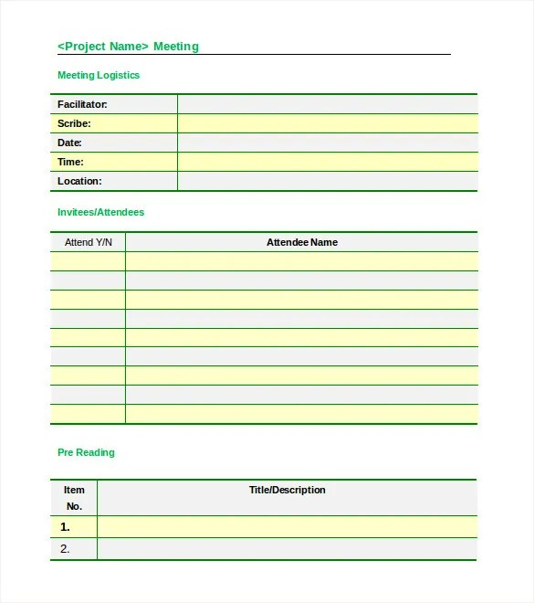 Meeting Agenda Template - 46+ Free Word, PDF Documents Download - meetings template