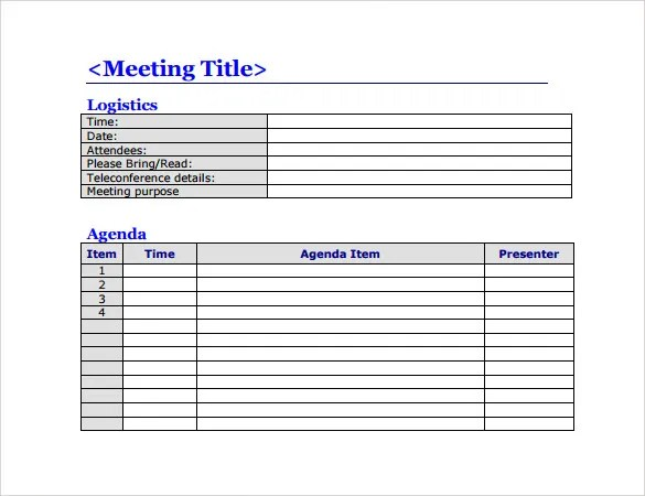 Meeting Agenda Template - 46+ Free Word, PDF Documents Download - agenda templates for word