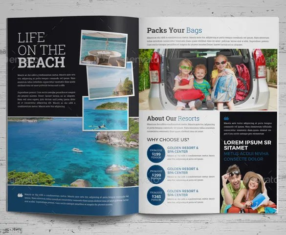 48+ Travel Brochure Templates - Free Sample, Example Format Download - Vacation Brochure Template