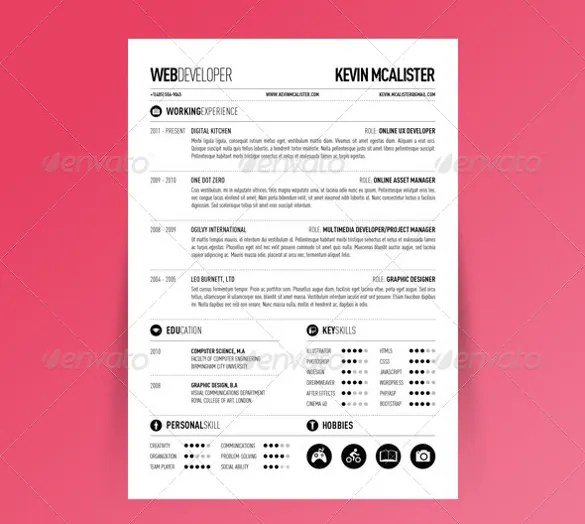 41+ One Page Resume Templates - Free Samples, Examples,  Formats - one page resume format