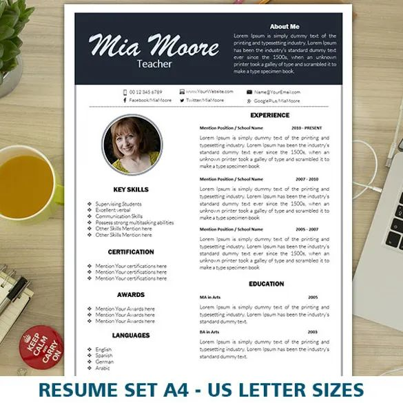 one page resume doc download