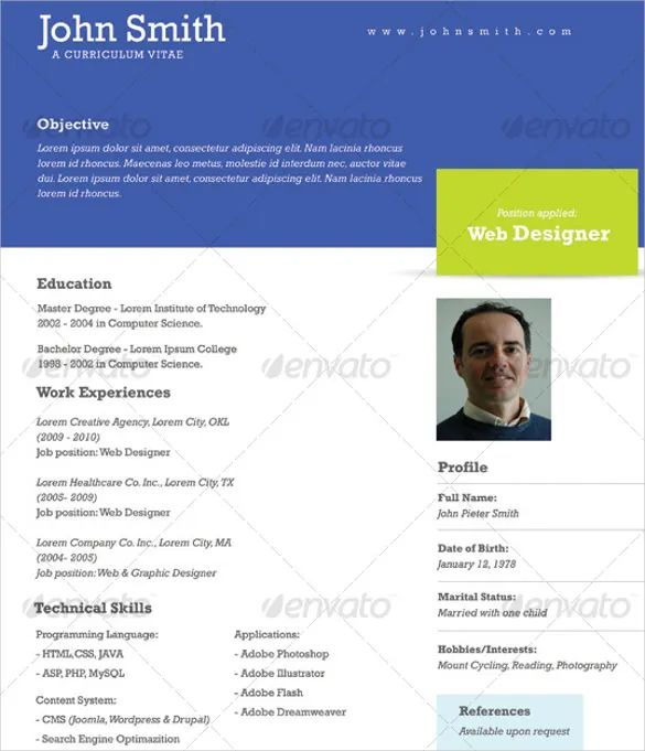 one page professional resume examples