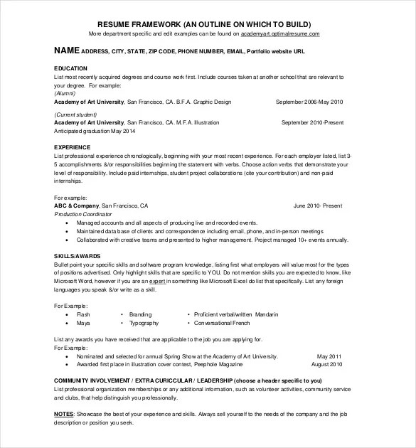 Sample 1 Page Resume 41 One Page Resume Templates Free Samples - example of one page resume