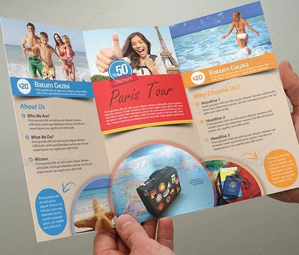 48+ Travel Brochure Templates - Free Sample, Example Format Download - tourism brochure template