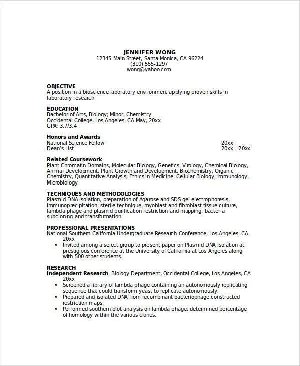 6+ Pathologist Resume Templates - PDF, DOC Free  Premium Templates - Sample Speech Language Pathology Resume