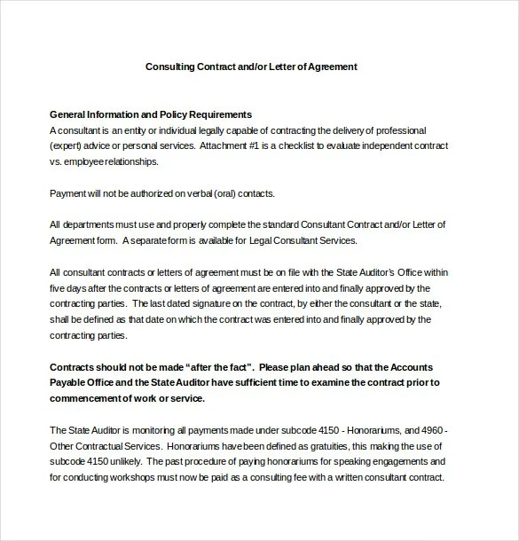 Consultant Agreement Template u2013 11+ Free Word, PDF Documents - consulting retainer agreement