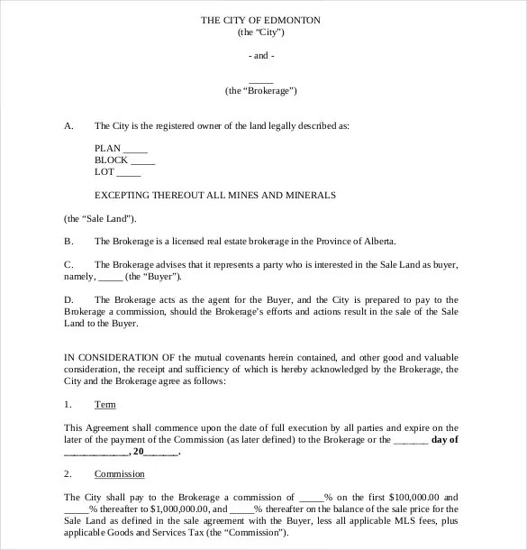 Commission Agreement Template- 12+ Free Word, PDF Documents - commission contract template