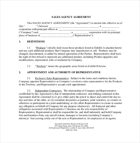 Commission Agreement Template - 22+ Free Word, PDF Documents