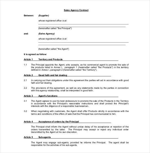 Commission Agreement Letter Sample Fresh Commission Contract