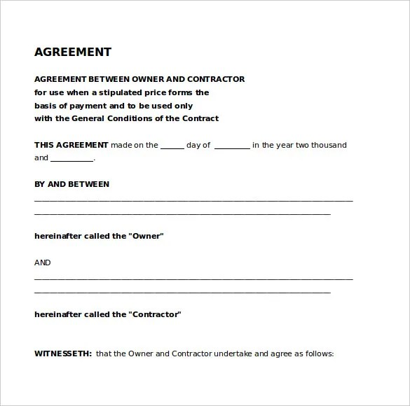 Legal Agreement Template \u2013 9+ Free Word, PDF Documents Download - legal contracts template