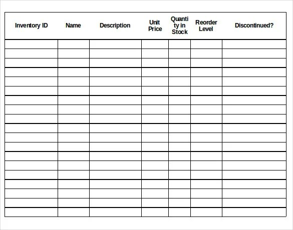 13+ Stock Inventory Control Template - Free Excel, PDF Documents - inventory sheets template
