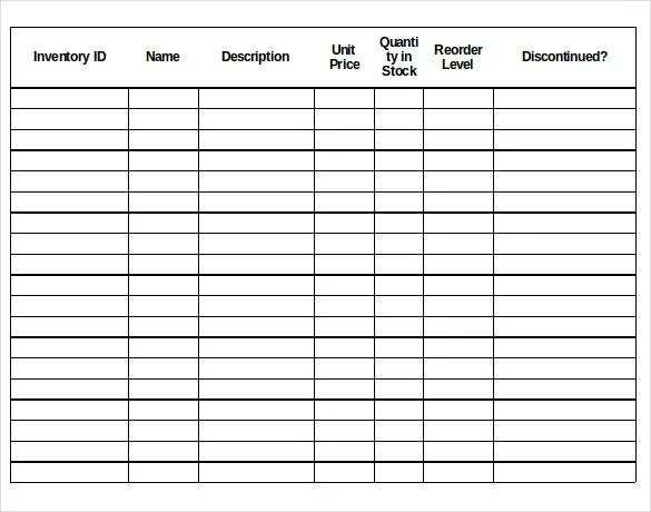18+ Stock Inventory Control Templates - PDF, DOC Free  Premium