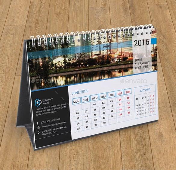 Desk Calendar Template \u2013 30+ Free PSD, AI, Indesign, EPS Formats