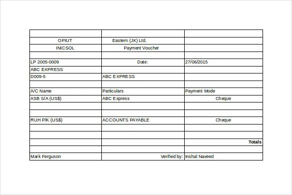 19+ Payment Voucher Templates - Free Sample, Example Format Download - loan payment coupon template