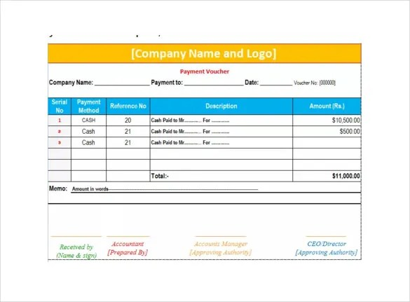 Payment Voucher Template \u2013 10+ Free Printable ,PDF Documents - payment coupon book template