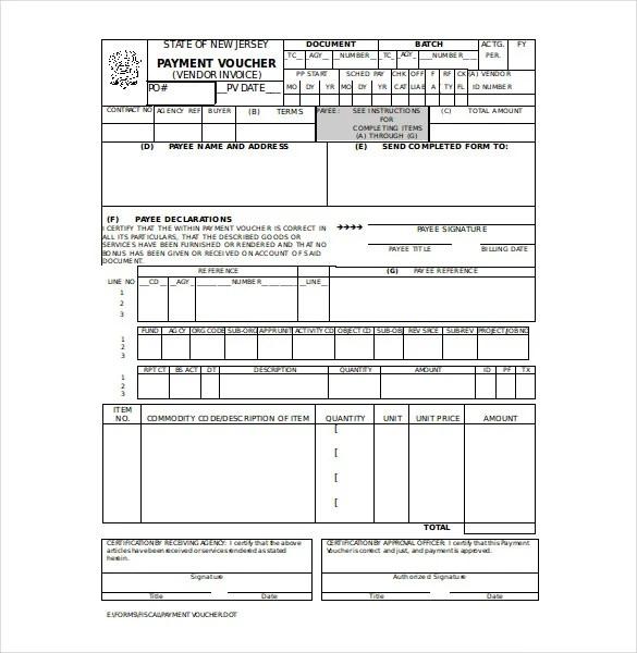 Payment Voucher Template \u2013 10+ Free Printable ,PDF Documents