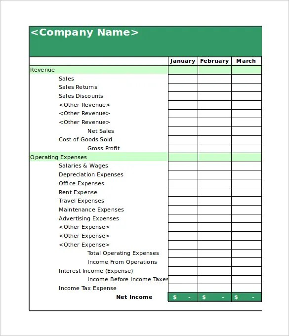 Personal Net Income Bing Images Financial Balance Sheet Template - printable income statement