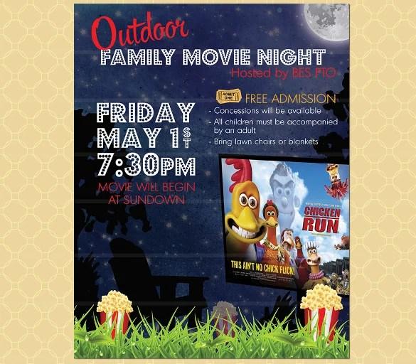 19+ Movie Night Flyer Templates- Ai, PSD, Word Free  Premium