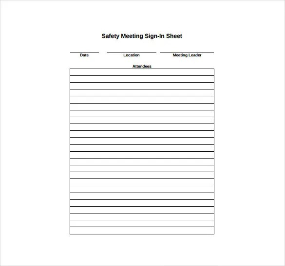 sign in sheet meeting email list legal size parent input meeting