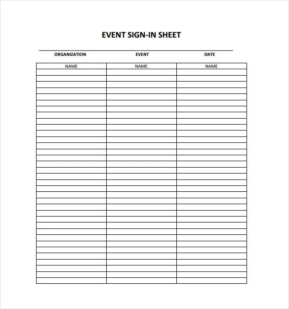 sign in sheets for events - Onwebioinnovate