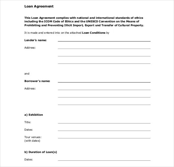 27+ Loan Contract Templates \u2013 DOC, PDF Free  Premium Templates - Loan Agreement Template Word