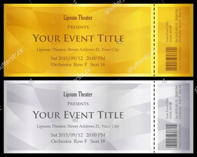 13+ Ticket Voucher Templates \u2013 Free Sample, Example Format Download - Lunch Voucher Template