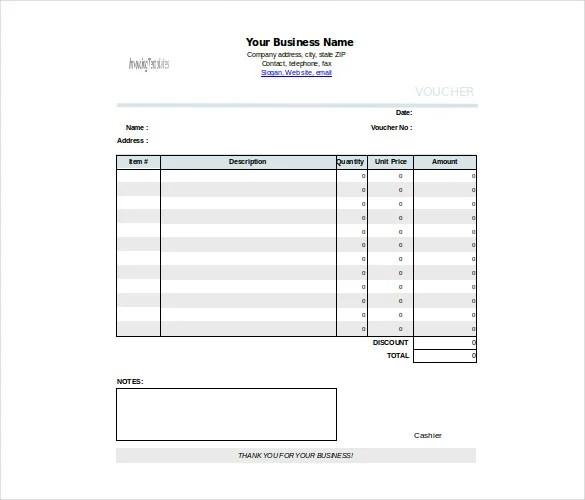 Cash Voucher Template - 12+ Free Printable, PDF Documents Download