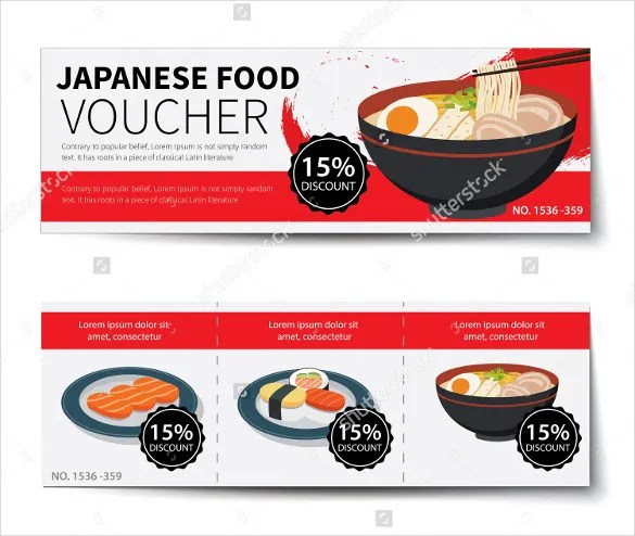 Meal Voucher Template \u2013 10+ Free Printable, PDF Documents Download - Lunch Voucher Template