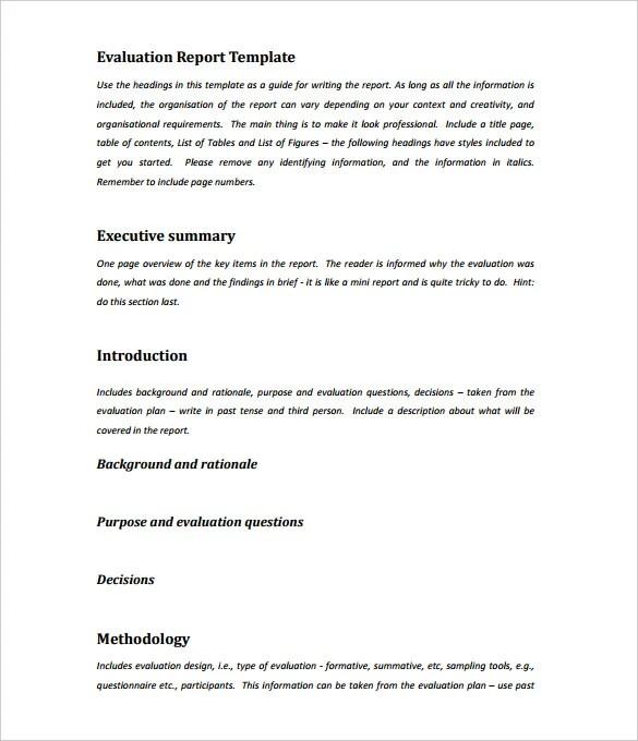 executive summary report template - Ozilalmanoof - summary report template