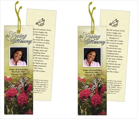21+ Funeral Bookmark Templates - Word, PSD Free  Premium Templates