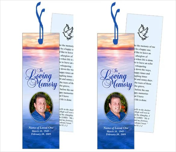 Funeral Bookmark Template - 22+ Free PSD, AI, Vector EPS Format