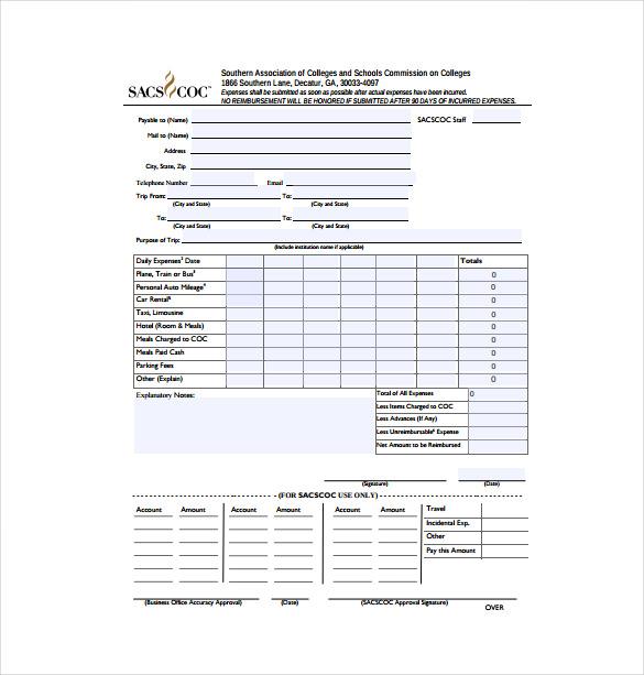 Expense Voucher Template 12 Expense Voucher Templates Free Sample - expense voucher template