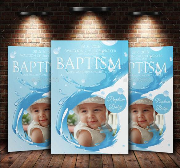 Baptism Invitation Template u2013 27+ Free PSD, Vector EPS, AI, Format - flyer invitation templates free