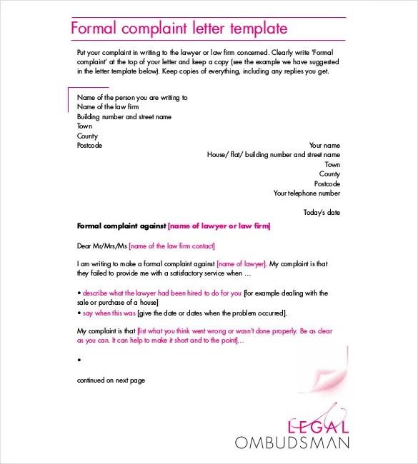 49+ Complaint Letters Templates HR Templates Free  Premium