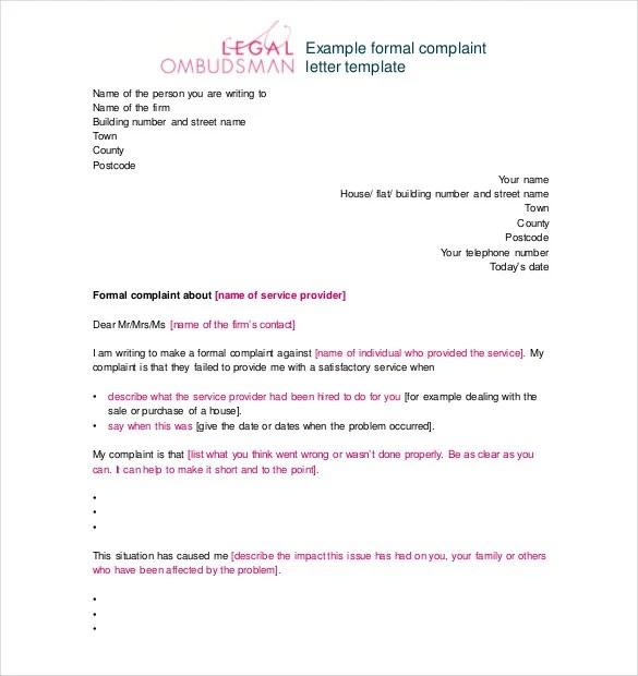 49+ Complaint Letter Templates - DOC, PDF Free  Premium Templates