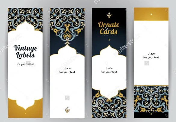 Bookmark-Design-Templates-Instant-Downloadjpg (585×407 - address label format