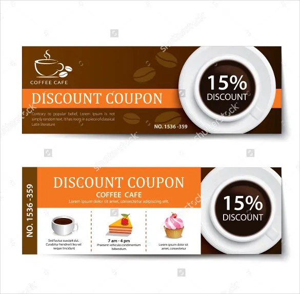 free coffee voucher template - Ozilalmanoof - discount voucher design