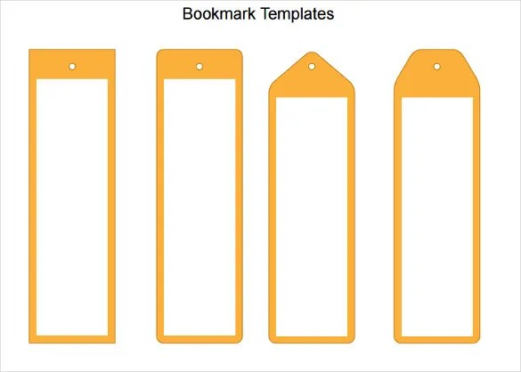 101+ Blank Bookmark Templates \u2013 Free Sample, Example, Format - blank bookmark template