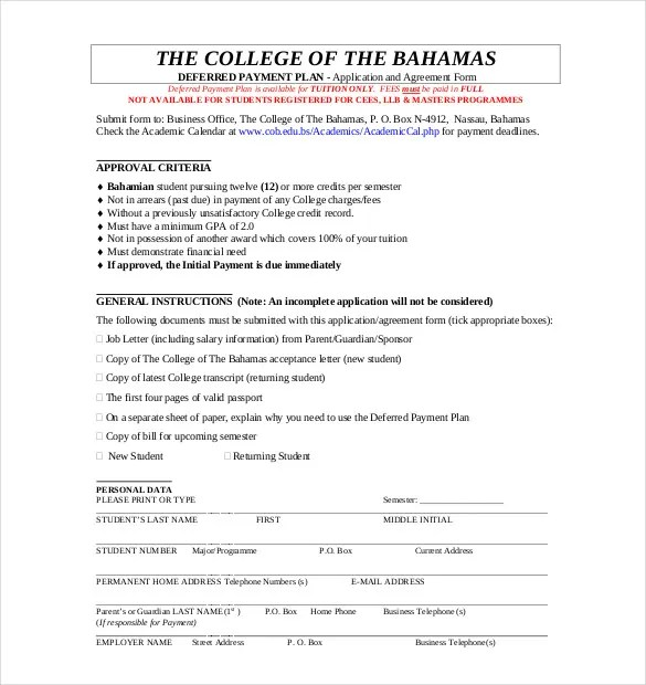 Payment Plan Agreement Template - 25+ Free Word, PDF Documents