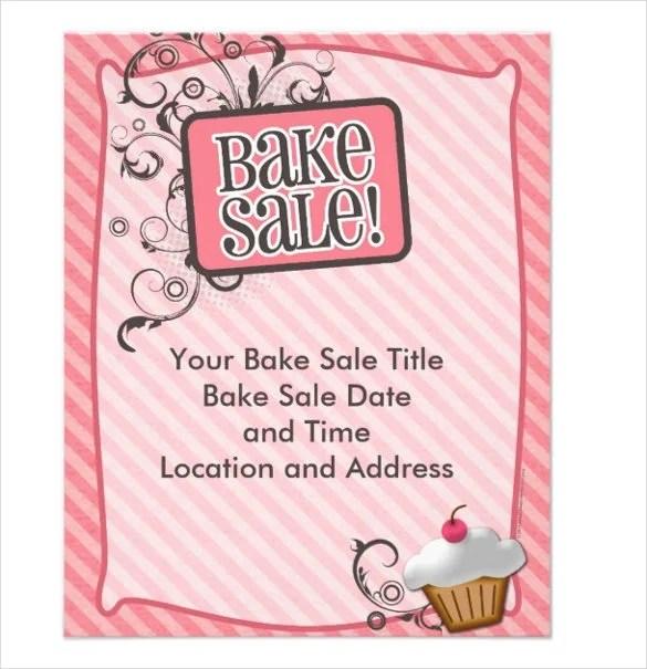 Amazing Bake Sale Flyer Templates Gift - Professional Resume - bake sale flyer template microsoft