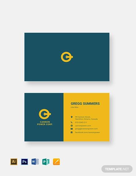 17+ Electrician Business Card Designs  Templates - PSD, AI