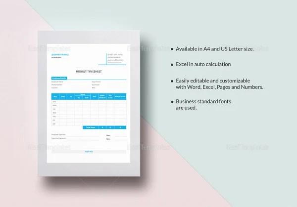 18+ Hourly Timesheet Templates \u2013 Free Sample, Example Format