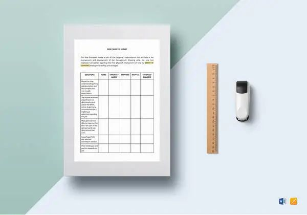 employee survey template word