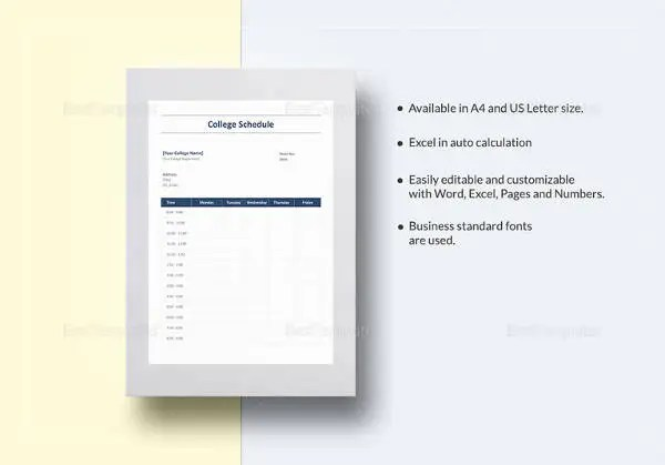 Master Schedule Template - 11+ Free Word, PDF Documents Download