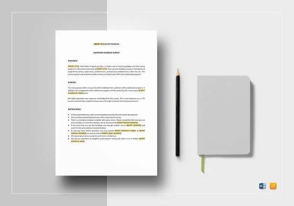 21+ Feedback Survey Templates \u2013 Free Sample, Example, Format