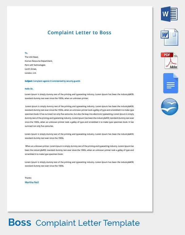 Sample Complaint Letter Lovetoknow Complaint Letters 21 Free Word Pdf Documents Download