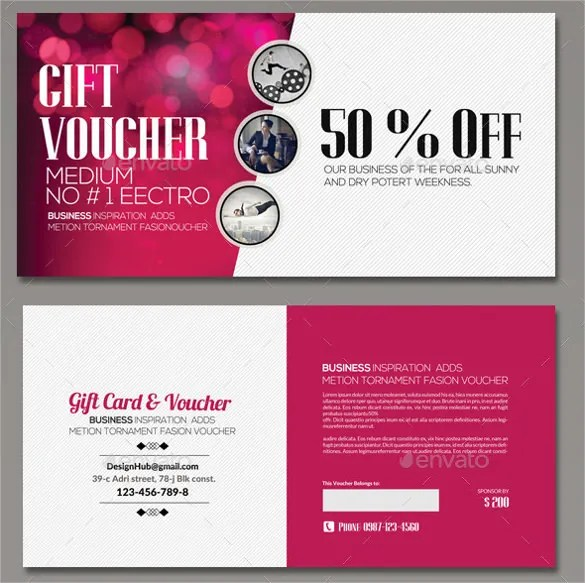Voucher Templates Free Gift Voucher Template Vector Free Vector - business gift certificate template free
