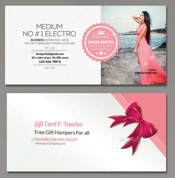 Sample Gift Voucher Template Gift Certificate Example Templates - business gift certificate template free
