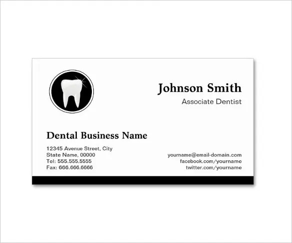 Dentist  Dental Clinic Business Card Template \u2013 40+ Free PSD Format - name card format