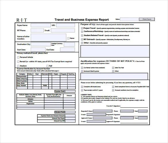 11+ Expense Sheet Templates \u2013 Free Sample, Example, Format Download